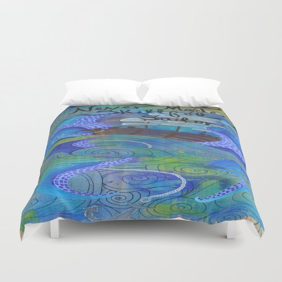 Rough Waters (Blue/Green) Duvet Cover