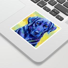Colorful Labrador Retriever Dog Sticker
