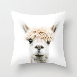 Alpaca Bangs Throw Pillow