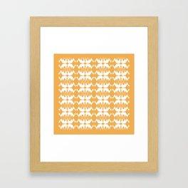 Oh, deer! in tangerine orange Framed Art Print