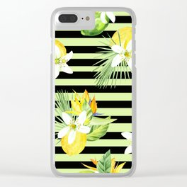 watercolor seamless pattern fresh summer Clear iPhone Case