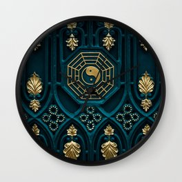 Leo Abstract Background Wall Clock