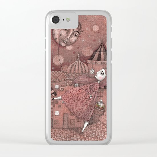 Strawberry Moon in June Clear iPhone Case