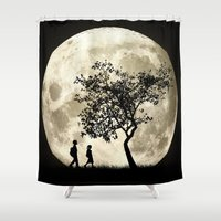 arnold Shower Curtains featuring Full Moon by Phil Perkins