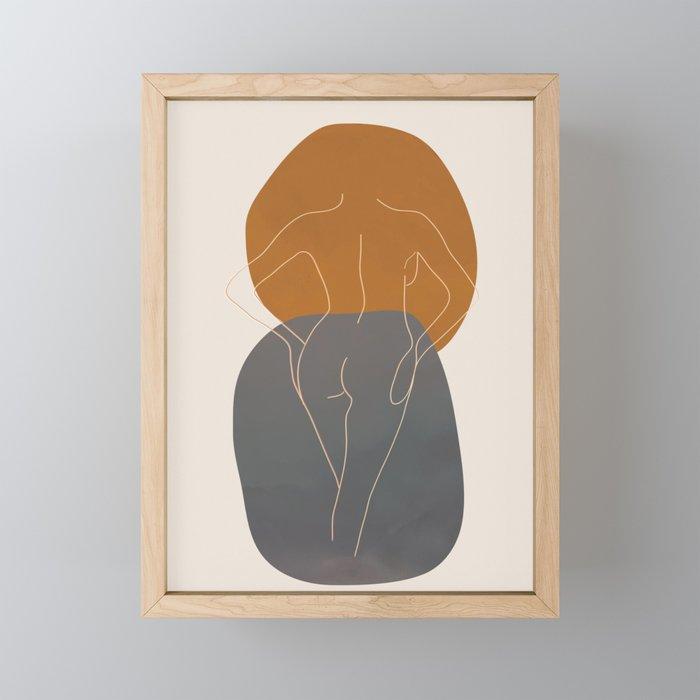 Line Female Figure 82 Framed Mini Art Print