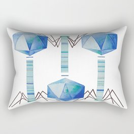Bacteriophage 2, Science art, science, virus, microbiology, virology, geekery, science illustration Rectangular Pillow