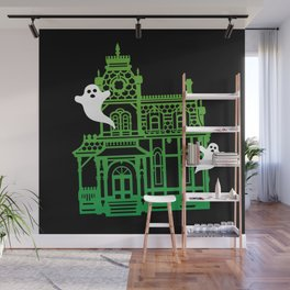 Haunted Victorian House Wall Mural