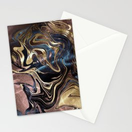 Liquid Gold Marble Stationery Cards