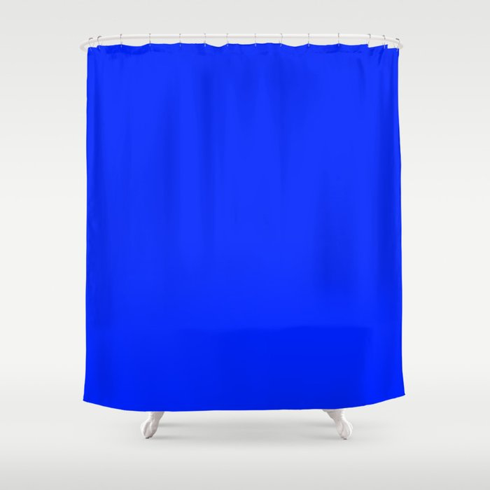 The Future Is Bright Blue Solid Color Jewel Tone Shower Curtain