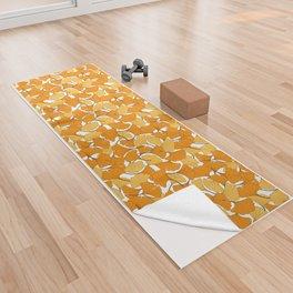 ginkgo leaves (orange) Yoga Towel