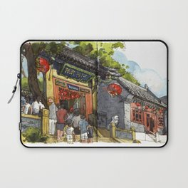 Chinese Temple in Qingdao Laptop Sleeve
