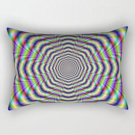 Psychedelic Octagon Pulse Rectangular Pillow
