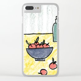 Yellow Table Clear iPhone Case