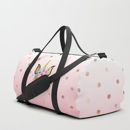 Floral Unicorn  Duffle Bag