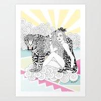 jaguar Art Prints featuring Jaguar by Hue Huynh