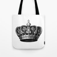 crown Tote Bags featuring crown by AleDan