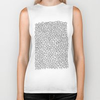 pencil Biker Tanks featuring A Lot of Cats by Kitten Rain