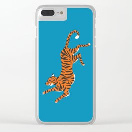 Blue Tiger Clear iPhone Case