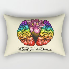 Feed your Brain Rectangular Pillow