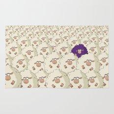Sheep Pattern | Purple Rug