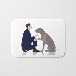 Me and you in a relationship Bath Mat