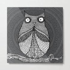 Doodle Owl Metal Print