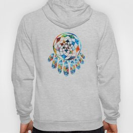 Native American Colorful Dream Catcher by Sharon Cummings Hoody