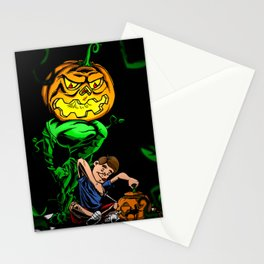 Pumpkin Head Stationery Cards
