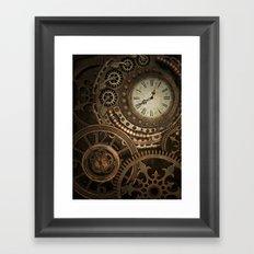 Steampunk Clockwork Framed Art Print