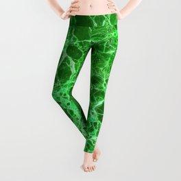 Emerald Green Marble Leggings