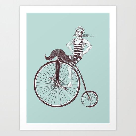 Mustache Handlebar Art Print