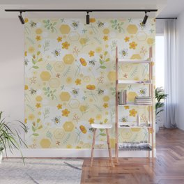 Honey Bees and Buttercups Wall Mural