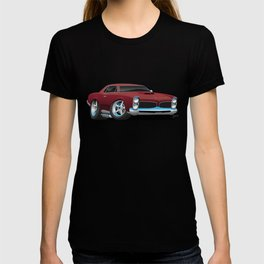 Classic American Muscle Car Cartoon T-shirt