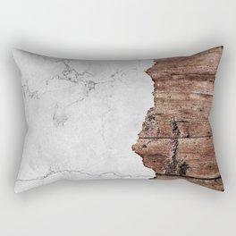Grey Marble & Wood texture Rectangular Pillow