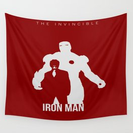 Robert Downey Jr Iron Man Concept Minimalist Design Wall Tapestry