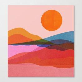 Abstraction_OCEAN_Beach_Minimalism_001 Canvas Print