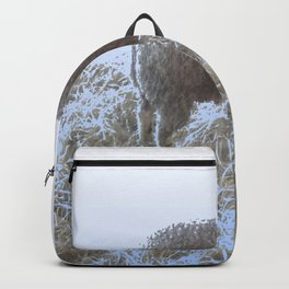 Solitude on straw Backpack