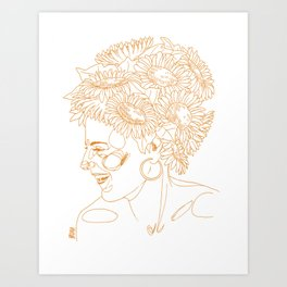 Sunflowers in my head Art Print