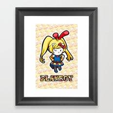 Hello Play Kitty Bunny I Framed Art Print