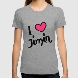 kpop idol jimin love fangirl T-shirt