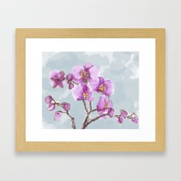 Watercolor Orchids Framed Art Print