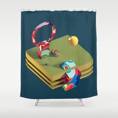 Much Ado in Candyland Shower Curtain