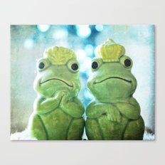 Mr and Mrs Frog Canvas Print