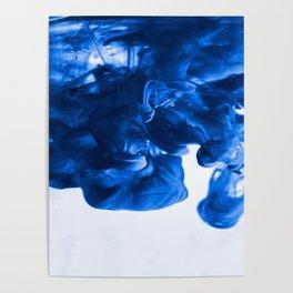 Blue Dye Cloud (Color) Poster