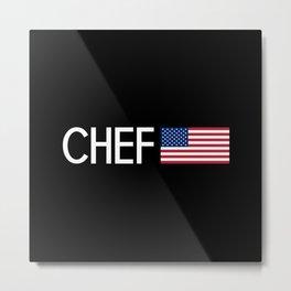 Chef (U.S. Flag) Metal Print