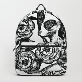 Rose Wreath With Skull Backpack