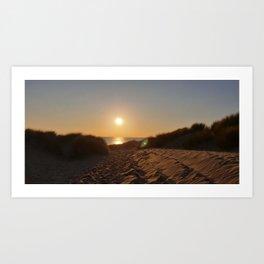 FORMBY SUNSET Art Print