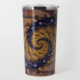 An Emperor Scorpion's 1001 Fractal Spiral Stingers Travel Mug