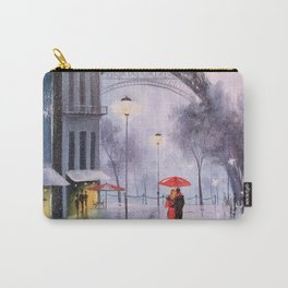 the first snow in Paris Carry-All Pouch
