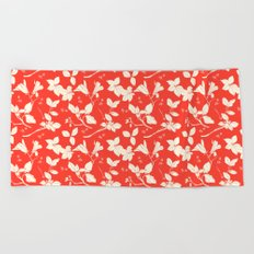 Drawings from Stonecrop Garden, Pattern in Red Beach Towel
